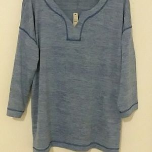 Talbots womens blue casual shirt